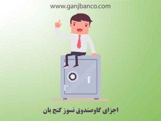 اجزای گاوصندوق نسوز گنج بان | باکیفیت ترین گاوصندوق ایرانی